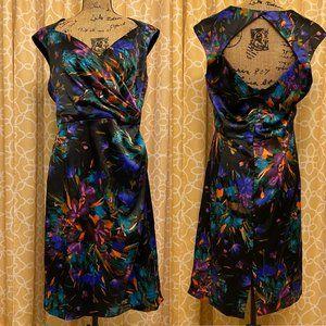 VTG 80s London Style Night Floral Dress Size 16